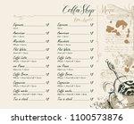 vector coffee shop menu with... | Shutterstock .eps vector #1100573876