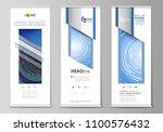 roll up banner stands  flat... | Shutterstock .eps vector #1100576432