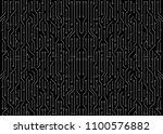 white circuit board on black...   Shutterstock . vector #1100576882