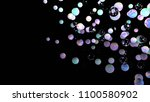 holographic bubbles on black.... | Shutterstock . vector #1100580902