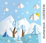Paper Pop Up Winter Beautiful...