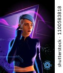 Cyberpunk Girl With Blue Hair....