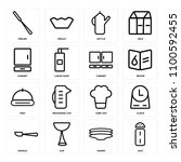 set of 16 icons such as salt ... | Shutterstock .eps vector #1100592455