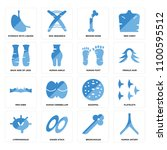 set of 16 icons such as human...