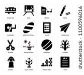 set of 16 icons such as exam ...