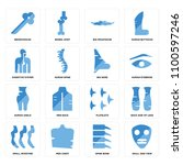 set of 16 icons such as skull... | Shutterstock .eps vector #1100597246