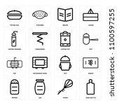 set of 16 icons such as wine...