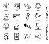 set of 16 icons such as... | Shutterstock .eps vector #1100597978