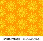 seamless background with sun. | Shutterstock .eps vector #1100600966