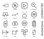 set of 16 icons such as refresh ...