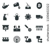 black vector icon set sun... | Shutterstock .eps vector #1100602322