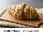 whole grain gluten free rye... | Shutterstock . vector #1100608028