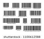 bar code set vector. universal... | Shutterstock .eps vector #1100612588