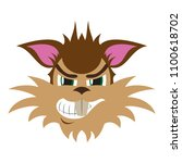 flat icon on theme evil animal... | Shutterstock .eps vector #1100618702