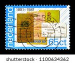 Small photo of MOSCOW, RUSSIA - MAY 13, 2018: A stamp printed in Netherlands shows Bankbooks and giro transfer form, PTT-services serie, circa 1981