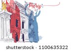 paris background design. paris... | Shutterstock .eps vector #1100635322