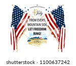 independence day card with... | Shutterstock .eps vector #1100637242