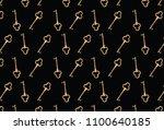 Gold Key Pattern. Vector Gold...