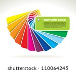 vector colour guide | Shutterstock .eps vector #110064245