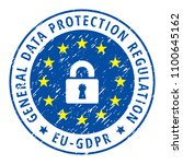 eu gdpr label illustration | Shutterstock .eps vector #1100645162
