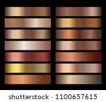 bronze foil texture gradients... | Shutterstock .eps vector #1100657615