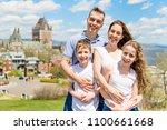 family in summer season in... | Shutterstock . vector #1100661668