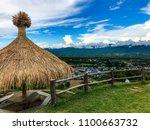 Thai Pavilion With Blue Sky On...