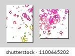 dark pink  greenvector template ...