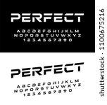sport modern alphabet fonts and ... | Shutterstock .eps vector #1100675216
