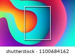 blue  pink and orange abstract... | Shutterstock .eps vector #1100684162