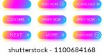 set of colorful icons isolated... | Shutterstock .eps vector #1100684168
