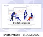 landing page template of... | Shutterstock .eps vector #1100689022