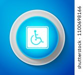 white disabled handicap icon... | Shutterstock .eps vector #1100698166