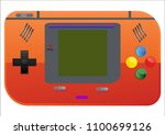 portable handheld game console   Shutterstock .eps vector #1100699126