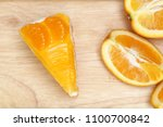 piece of orange cake | Shutterstock . vector #1100700842