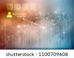 2d rendering stock market... | Shutterstock . vector #1100709608