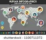 social networks users... | Shutterstock .eps vector #1100711372