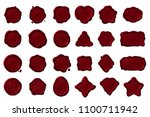 vector wax seal stamp isolated... | Shutterstock .eps vector #1100711942