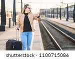 unhappy and frustrated woman...   Shutterstock . vector #1100715086