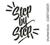 step by step   hand drawn... | Shutterstock .eps vector #1100716025