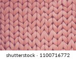 texture of pink big knit... | Shutterstock . vector #1100716772