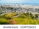 amazing city skyline view above ... | Shutterstock . vector #1100726612