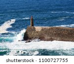 view of the lighthouse in the...   Shutterstock . vector #1100727755