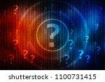 2d illustration question mark | Shutterstock . vector #1100731415