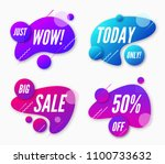 set of abstract trendy dynamic... | Shutterstock .eps vector #1100733632