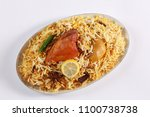 delicious spicy chicken biryani ...   Shutterstock . vector #1100738738