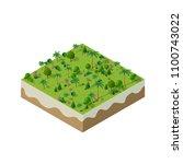 nature forest landscape of... | Shutterstock .eps vector #1100743022
