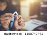 child refuse to smoke  world no ... | Shutterstock . vector #1100747492