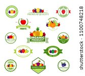 organic farming products vector ... | Shutterstock .eps vector #1100748218