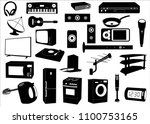 appliances sticker collection | Shutterstock .eps vector #1100753165